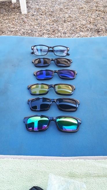 Magnetne naočare sa 5 stakla i torbicom