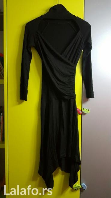 Crna haljina acces, vel s, pamucna, jako prijatna, sa dugim rukavima i - Nis
