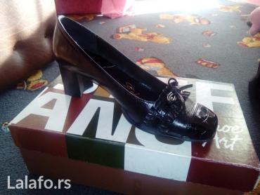 Crne kozne cipele. Broj 37, nove. Jako kvalitetne. Prodajem jer mi ne  - Pirot
