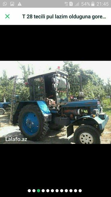Zaqatala şəhərində Traktor t28 tam işlək vəziyətdədi heç bir problemi yoxdur srazdi xodan