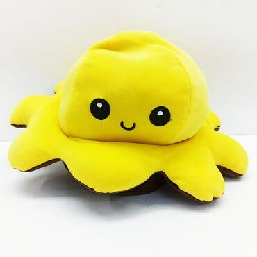 осьминог перевертыш бишкек in Кыргызстан   ИГРУШКИ: Осьминог мягкая игрушка.Новая популярная чудо игрушка!!С одной стороны