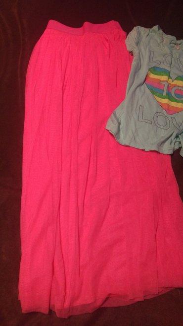 Kikiriki duga suknja sa mrezom. Pink boje. Velicina s - Kucevo