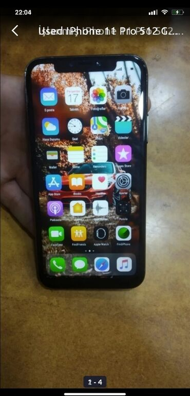 Apple Iphone - Azərbaycan: İşlənmiş IPhone 11 Pro 512 GB Boz (Space Gray)