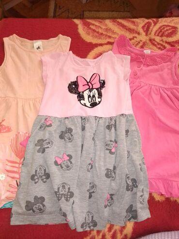 Dečija odeća i obuća - Sid: Tri haljinice kao nove,veličina 24-36m-92/98
