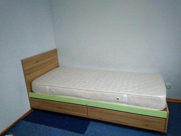 односпальная кровать, фирменный ортопедический матрас. в Бишкек