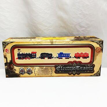 Поезд игрушечный с подсветкой и звуками!!В комплекте также 1 грузовой