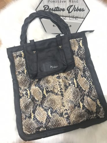 Ostalo | Sremska Mitrovica: PS Fashion torba, sa zmijskum printom, nosena 2-3 puta mozda, nigde