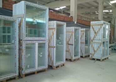 Ремонт и строительство - Бишкек: Пластик жана алюминден эшик терезелерди жасайбыз . пластиковые и