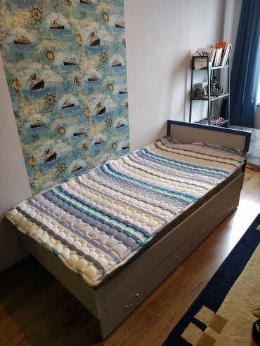 Продаю кровать в хорошем состоянии. РАЗМЕР: 90*190. Есть два выкатных