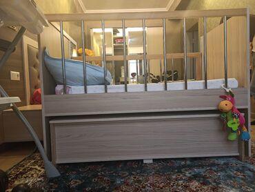 usaq ucun iki mertebeli kravat в Кыргызстан: Продается детская кровать. Одна сторона снимается и можно присоединить
