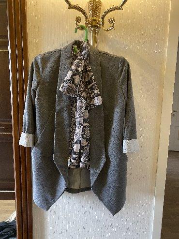 украшение шарфик в Кыргызстан: Стильный пиджак Турция! 44/46! С шарфиком !