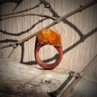 Часы колечко - Кыргызстан: Обжигающее колечко прямиком из печки ;) Размер 16.5 Ювелирная смола, д