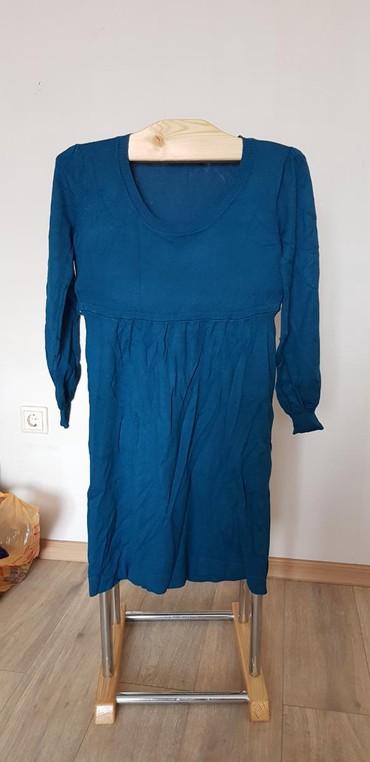 женская платья размер 46 48 в Кыргызстан: Женское платье трикотажные, цвета морской волны. 46)-48 размер. цена