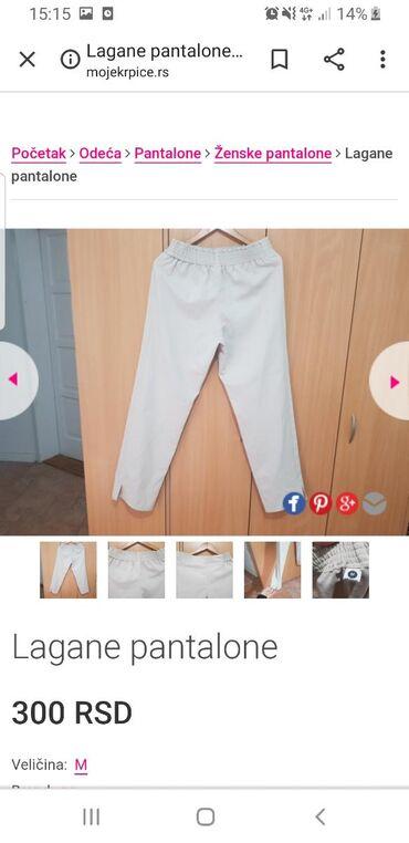Tanje pantalone, pise M ali mislim da moze i vece jer je siri model