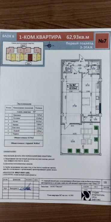 Продается квартира: 1 комната, 95 кв. м., Бишкек в Бишкек