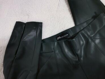 Pantalone lantis - Srbija: Zarine kozne pantalone ★ Kvalitetne ★ Naznacena velicina M ★ Nove Tu