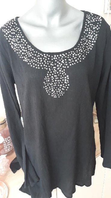 Boho-bluza - Srbija: Boho tunika vel.42 (XL) indijsko platno i perlice PAMUK,NOVA