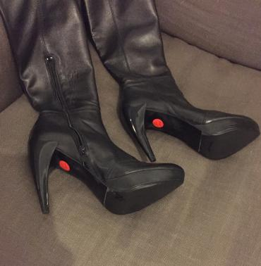 Zara high knee length high heels black leather boots . New , never σε Βόρεια & Ανατολικά Προάστια - εικόνες 2