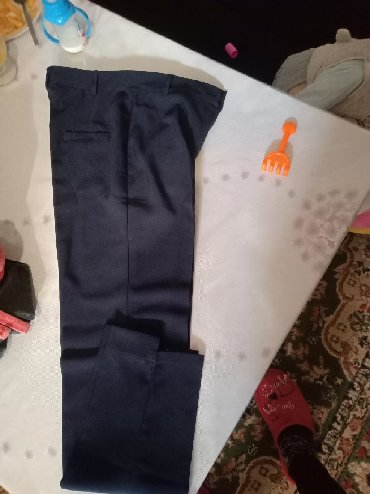женские-брюки-черные в Кыргызстан: Новые классические офисные брюки 38р .две штуки