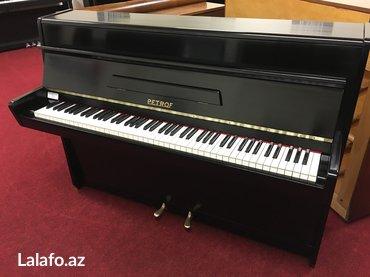 Bakı şəhərində Pianino Petrof - kompakt modelde, qara parlaq cilalı - ideal