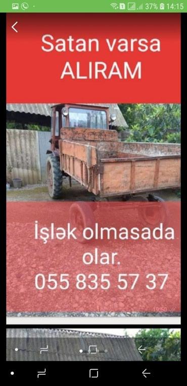 Bakı şəhərində ALIRAM T16 Traktoru, T40, T 28 . ЮМЭ