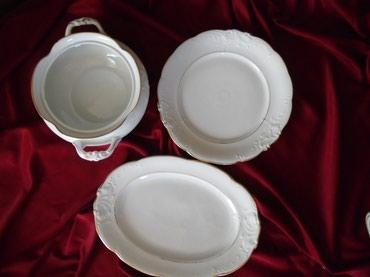 Veliki tanjir i okrugli tanjir za serviranje, poznatog poljskog - Belgrade
