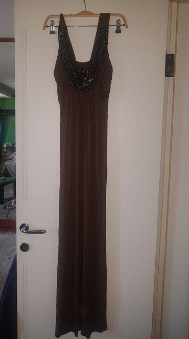Braon - Srbija: Prelepa duga haljina do zemlje skoro. prati liniju tela . prakticno