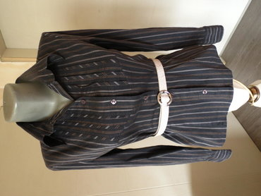 Košulje i bluze | Kraljevo: Ella Vivaldi kosulja 36 vel Siva udobna prugasta kosulja, mekana sa