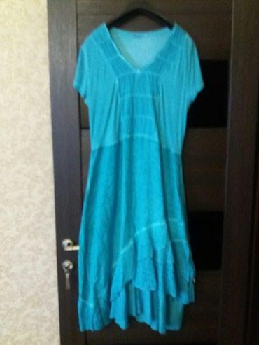 Платье лен+трикотаж р-46-48 своя цена 2500. Турция. в Бишкек