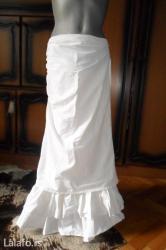 Bela duga letnja suknja sa karnerima, prelepo pada i lepo stoji, - Kragujevac