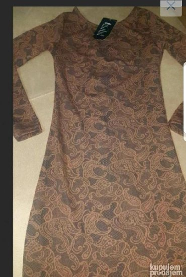 Haljine | Negotin: Braon haljinica vel. S/M NOVA sa etiketom. Ima rajfeslus celom