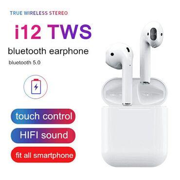 Ασύρματα ακουστικά earbuds i12 tws bluetooth airpods σφραγισμένα στο