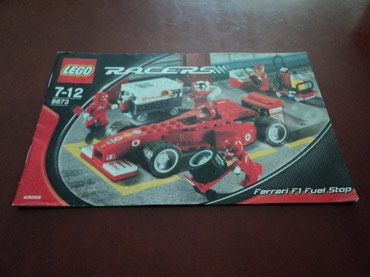 Lego 8673 Racers Ferrari F1 Fuel Stop Used ~97% complete with original σε North & East Suburbs
