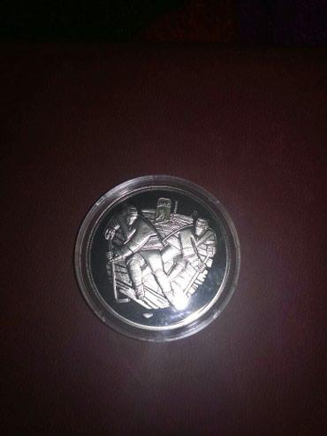 Монета чемп. мира по хоккею Минск 2013г. в Бишкек