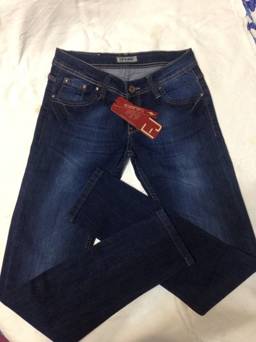 зауженные джинсы для мужчин в Кыргызстан: Новые турецкие женские молодежные джинсы!!! Посадка заниженная!!!