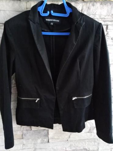 Sako-i-pantalone - Srbija: Crni elegantni sako vel 38 može na suknju ili pantalone a i farmerke