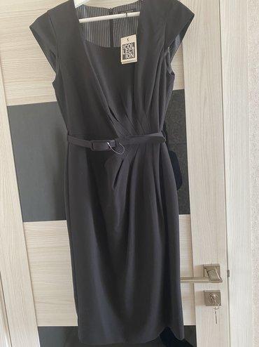 черное длинное платье в Кыргызстан: Продаю новое платье длины миди в чёрном цвете в размере us10