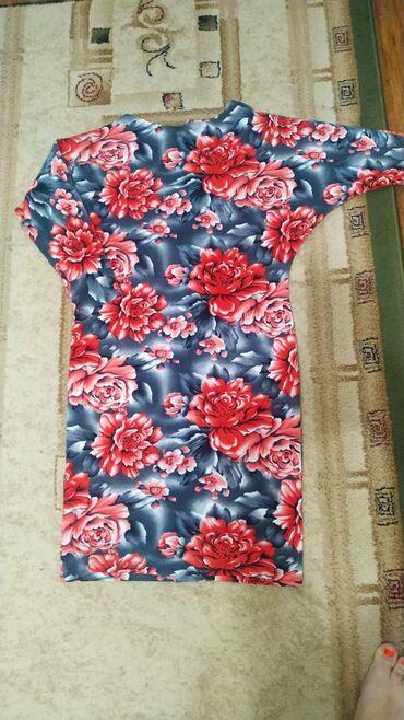 Шикарное платье на осень, теплый мягкий трикотаж. Новое, размер 46-48