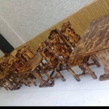Yüksek keyfiyetli Masa ve oturacaqlar Material şam ağacıÖlçü 140*80