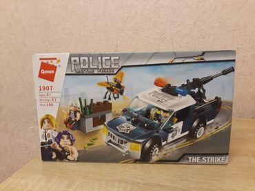 развивающие игрушки для младенцев в Кыргызстан: Полицейская Лего  машинка Лего  корабль Лего  две машинки каждая по 4