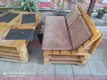 Диваны - Кыргызстан: Всем привет! Диванчики из паллет!Продаем диванчики со столешницей из