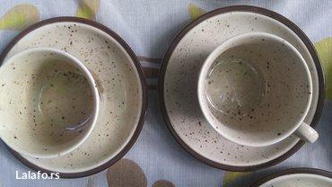 Prelep set šoljice, posuda za mlekooo (može biti i čajnik)  - Cuprija - slika 4