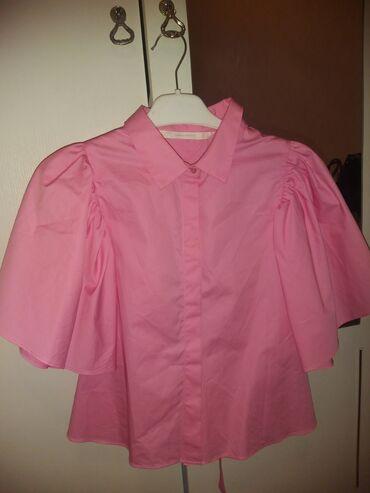 Рубашка модная с открытой спиной, Ткань из чистого хлопка