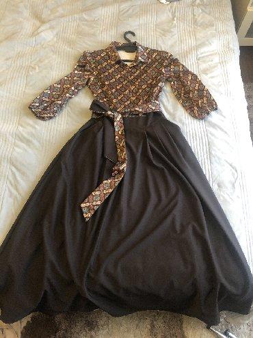 коричневое платье в пол в Кыргызстан: Турецкое платьекачество просто супер,все швы ровныев отличном сост