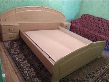Продаю кровать или меняю. 2-х спальная, б/у с тумбочками, без матраца