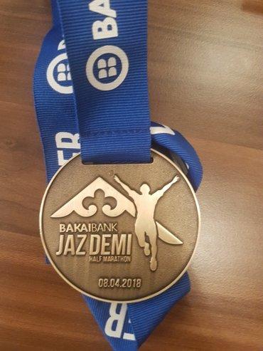 Медаль Полумарафона Jaz Demi. Награды такого типа очень высоко ценятся в Бишкек