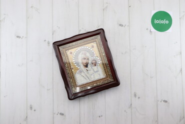 Декор для дома - Украина: Ікона вишита бісером та камнями Сваровськи    Висота: 27 см Ширина: 24