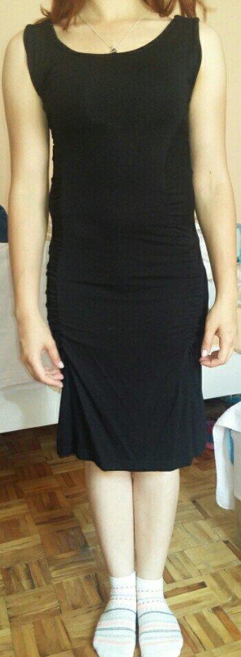 Crna , pamucna, vrlo lagana haljina za leto.. - Beograd