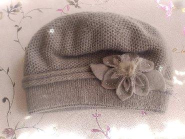 Шапку-для-девочки - Кыргызстан: Продаю новую теплую шапку 400 сом