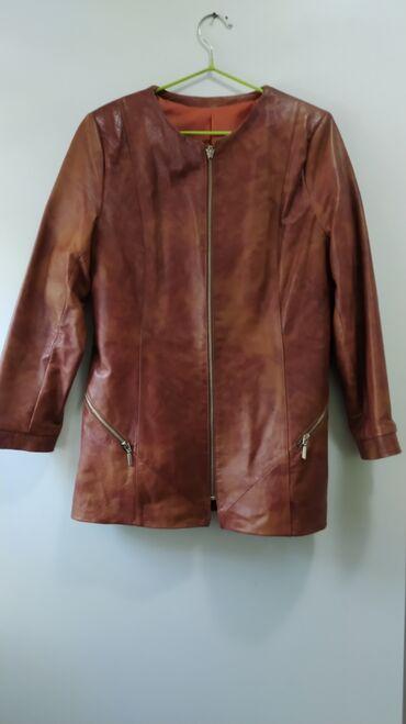 Женская одежда - Мыкан: Женский кожаный жакет, состояние отличное, подклад поменяли на новый